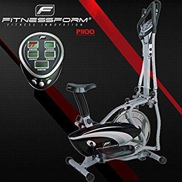 Fitnessform� ZGT� Z10 Cross Trainer 2-in-1 Fitness Elliptical Exercise Bike (New seat motion) (Black)