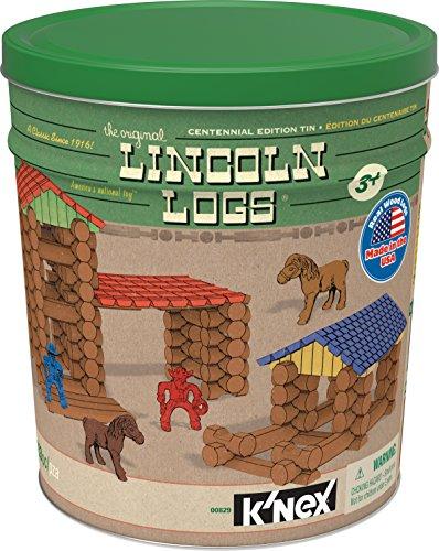 LINCOLN LOGS - Centennial Edition Tin - 153 Pieces - Ages 3+ - Preschool Education Toy