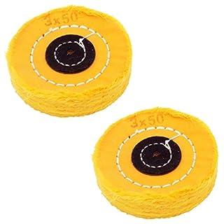 cnmade weichem Poliertuch Pads Polierscheiben für Bohrmaschine Rotary Dremel Zubehör Auto Metall Diamant Schmuck polish-3Zoll gelb