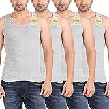 Zippy Men's Swift Sleeveless Grey Vest (Pack of 4)