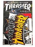 Thrasher Jeu D'autocollant Assorted 10 Pack Assorted (Default, Noir)