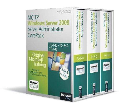 MCITP Windows Server 2008 Server Administrator CorePack - Original Microsoft Training für Examen...