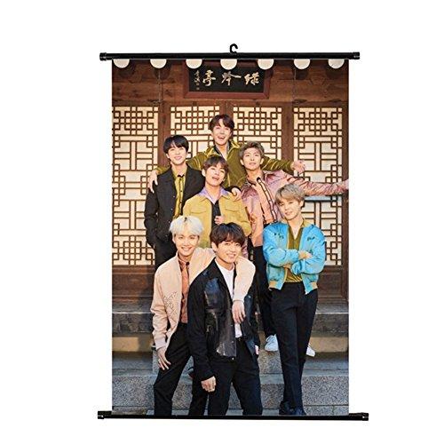 yovvin BTS KPOP Bantan chicos conjunto de tarjetas Photo pinturas colgantes decoración de la casa y cámara 8tipos