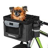 Lixada Cesta Delantera de Bicicleta Plegable Desmontable Cesta para Mascotas Bolso de Mano de Camping