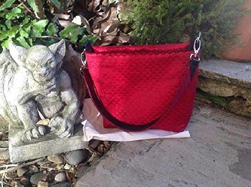 Red Scale Pattern Shoulder Bag - handmade-bags