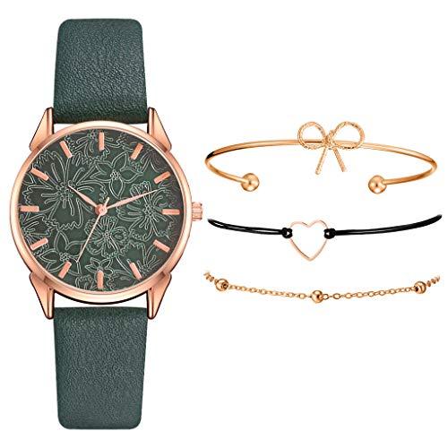 Amyline Women's Bracelet Watches, Women Bangle Watch Bracelet Set, Women's Analog Quartz Watch with Bracelet for Valentine's Day/Birthday/Wedding