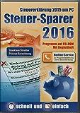 Steuer-Sparer 2016 (Glasklare Struktur - Pr�zise Brechnung) - Steuererkl�rung 2015 am PC Bild