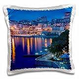 Danita Delimont - Albania - Albania, Albanian Riviera, Saranda, hotels along the Ionian Sea, dawn - 16x16 inch Pillow Case (pc_208807_1)