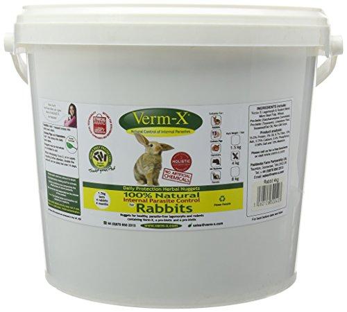 Verm-X für Nager, 4 kg. Statt chemischer Wurmkur für Kaninchen, Meerschweinchen und andere Nager eine natürliche Kontrolle innerer Parasiten mit der bewährten Verm-X Kräuter-Rezeptur. (Target)