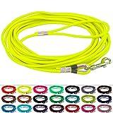 LENNIE BioThane Schleppleine, rund, Ø 6mm, Hunde 15-25kg, 8m lang, mit Handschlaufe, Neon-Gelb