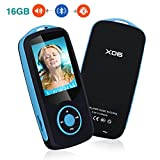 Mini MP3 Player Bluetooth YIKALU 16GB Mp3 Player mit Music Player Max Support 64GB Tragbare Musik Player Diktier geräte Radio verfügt - Blau