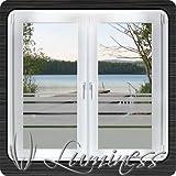 Fenster - Sichtschutzfolie - Dekor S6 farblos - 100 cm x 45 cm - auf Fixierfolie - von Luminess - Made in Germany
