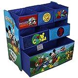 Disney Mickey Mouse Kinderregal aus Holz mit Aufbewahrungsboxen