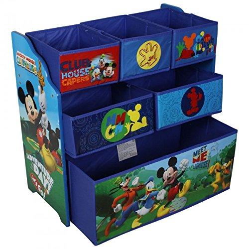 Disney Mickey Mouse Kinderregal aus Holz mit Aufbewahrungsboxen (Lackierte Aufbewahrungsbox)