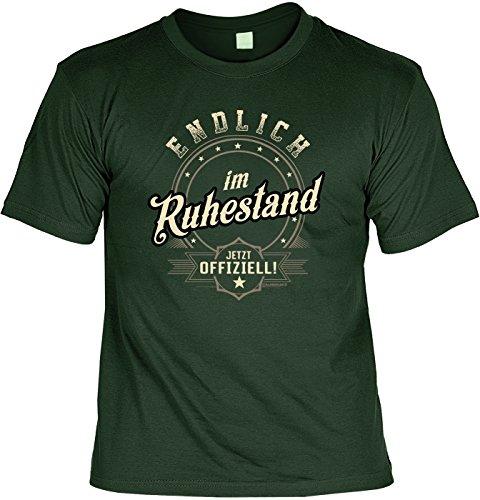 Rentner-Sprüche Tshirt lustiges Geschenk Ruhestand : Endlich im Ruhestand Jetzt Offiziell - Rentner-Shirt Motiv/Spruch Rente + Urkunde Gr: XL