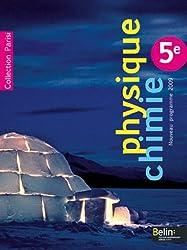 Physique Chimie 5e : Programme 2009