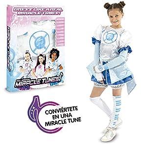 Miracle Tunes- Vestido/Disfraz, Jasmine, Color blanco/azul, S (Giochi Preziosi MRC08000)