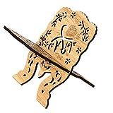CADANIA 1 Set Étagère De Livre en Bois Bureau Décoration Islam Bible Livres Stockage Affichage Rack Organisateur Eid Mubarak Creux Floral Stand Titulaire Art Artisanat Cadeaux Décor À La Maison