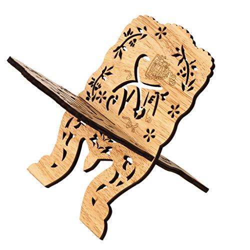 Lazder 1 Set Bücherregal Holz Schreibtisch Dekoration Islam Bibelbücher Aufbewahrung Organizer Eid Mubarak Hohl Blumenständer Kunst Handwerk Geschenke Home Decor