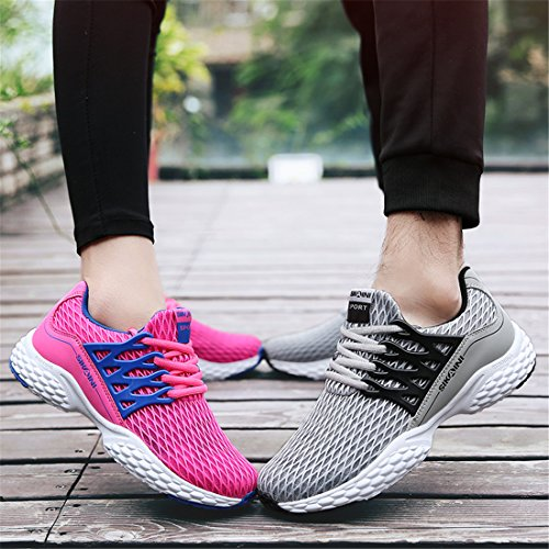 HUSK'SWARE Unisex Laufschuhe Turnschuhe Lace-ups Sport Lässige Breathable Mesh Leichtgewicht Outdoor Athletic Footwear Rosa