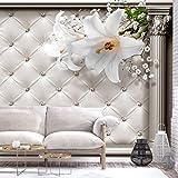 murando - Fototapete 3D Effekt 150x105 cm - Vlies Tapete - Moderne Wanddeko - Design Tapete - Wandtapete - Wand Dekoration - Blumen Lilien a-C-0104-a-a