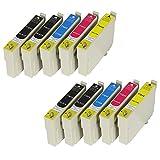 10 XL Druckerpatronen mit CHIP und Füllstandanzeige für Epson Expression Home XP-102, XP-202, XP-205, XP-212, XP-215, XP-225, XP-30, XP-305, XP-312, XP-315, XP-322, XP-325, XP-402, XP-405, XP-405WH, XP-412, XP-415, XP-422, XP-425