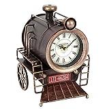 Hometime Metal Mantel Clock - Vintage Locomotive Steam Train Engine Section