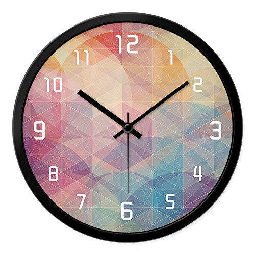 Preisvergleich Produktbild FLYRCX Kreative moderne Schlafzimmer minimalistischen Persönlichkeit runden Quartz clock,  A-12 Zoll