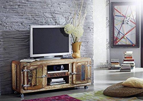 MASSIVMOEBEL24.DE Holz Eisen Altholz Massivmöbel TV-Board Industrial-Stil Massivholz Möbel Lackiert Freezy #10