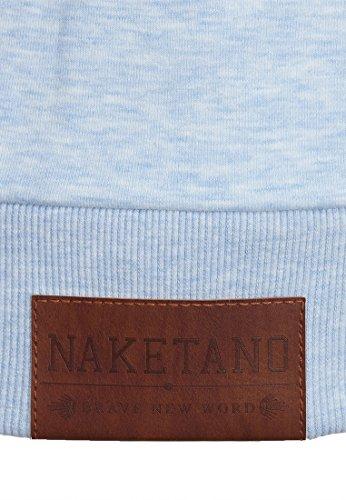 Naketano Male Zipped Jacket Schwarzkopf IV Cloudy Melange