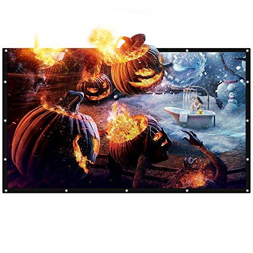 [Upgrade] Joyhero 84 Zoll Outdoor Projektionswand PVC Material, 16: 9 Zusammenklappbar Beamer Leinwand für Beamer Projektor HDTV/Sport/Filme/Präsentatione