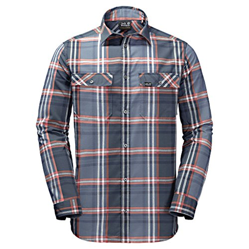 Preisvergleich Produktbild JACK WOLFSKIN Herren Hemd VALLEY SHIRT MEN, night blue checks, XXL, 1402111-7881006