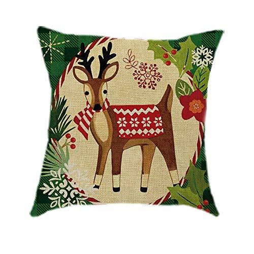 LILICAT Coton Linge de Noël taie d'oreiller canapé Voiture Jet Housse de Coussin décor à la Maison décoratifs Jeter des oreillers