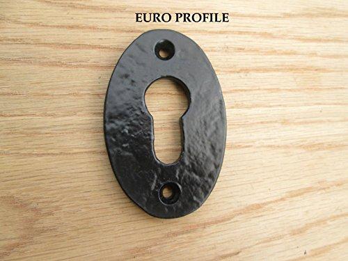 Ironmongery World Victoriano Vintage antiguo estilo hierro cerradura clave agujero Covers embellecedor para con tapa