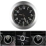 ONEVER Reloj de coche, rejilla de ventilación de coche, reloj de cuarzo, mini reloj de salpicadero de vehículo, 1,7' de diámetro