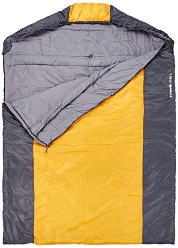10T Outdoor Equipment Quick Dry Selawik Duo Unisex Outdoor Sleeping Bag Available In BlackOrange 215 X 150 Cm