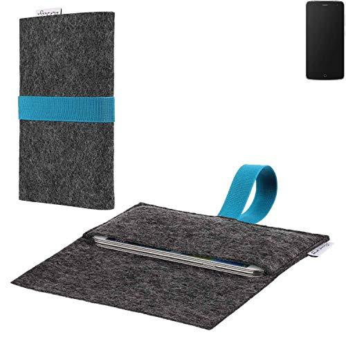 flat.design vegane Handy Hülle Aveiro für Alcatel Flash passgenaue Filz Tasche Case Sleeve Made in Germany