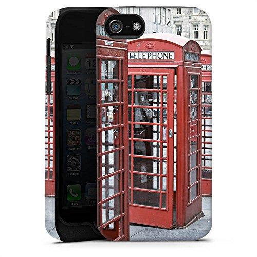 Apple iPhone X Silikon Hülle Case Schutzhülle Rote Telefonzelle England Großbritannien Tough Case matt