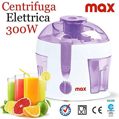 Bakaji centrifuga elettrica frullatore per concentrati di frutta e verdura 300w lame acciaio max casa