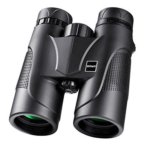 fernglas 10x42 HUTACT Weitwinkel Fernglas, 10X42 Professionelles Wanderer HD Vogelbeobachtungsteleskop, mehr klares Licht und Details, Wasserfest und Staubfest