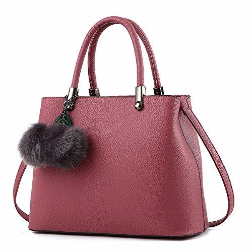 damen handtasche Pu einzigen frauen mode tasche Leder Rosa