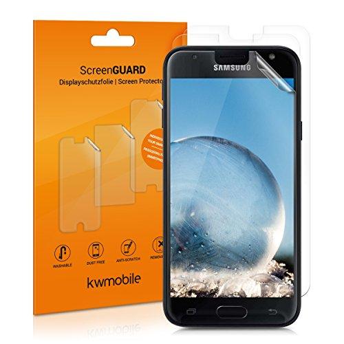 kwmobile 3X Folie für Samsung Galaxy J3 (2017) DUOS - klare Bildschirmschutzfolie Bildschirmschutz Crystal Clear kristallklar Bildschirmfolie Schutzfolie
