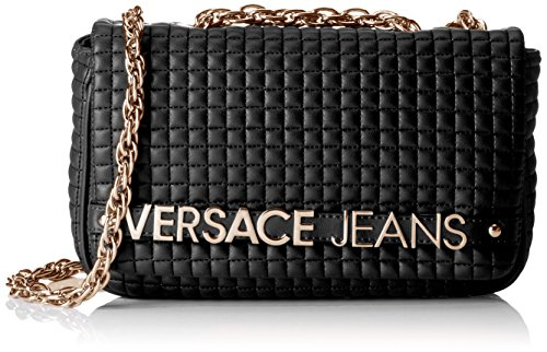 Versace Jeans EE1VOBBJ4, Borsa a spalla Donna, Nero, Taglia Unica
