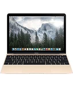 Apple MacBook with Retina Display 12-inch Laptop (Intel Core 1.1 GHz, 8 GB RAM, 256 GB SSD, Intel HD, OS X Yosemite) - Gold - 2015 - MK4M2B/A - UK Keyboard