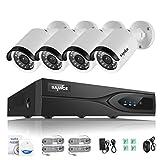 SANNCE 8 Kanal 1080P HD echtes PoE Überwachungssystem 2.0MP Videoüberwachung 8CH Überwachung set NVR mit 8 x 1080P IP Überwachungskameras, Nachtsicht bis zu 30Meter für innen und außen ohne Festplatte