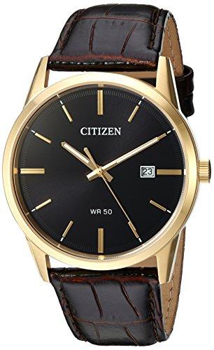 Citizen Herren Analog Quarz Uhr mit Leder Armband BI5002-06E