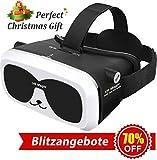 3D Virtual Reality Brille VR Headset für 3D Filme Spiele Einstellbare Brennweite Kompatibel mit iOS Android Anderen Handys innerhalb von 4.0-6.0 Zoll Ultraleichtes Gewicht Virtuelle Realität Brille