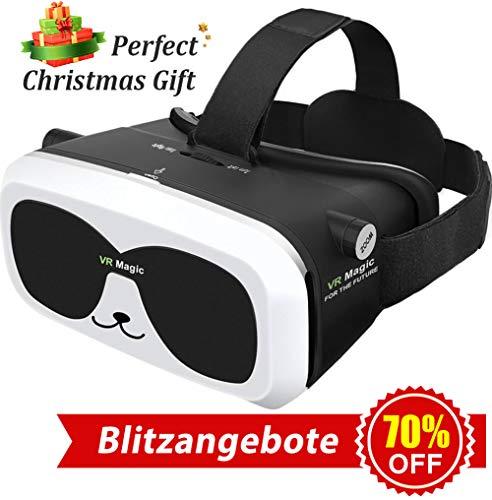 3D Virtual Reality Brille VR Headset für 3D Filme Spiele Einstellbare Brennweite Kompatibel mit iOS...