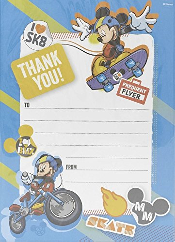 Image of Mickey Mouse Pack Of 20 Thank You Sheets With Envelopes
