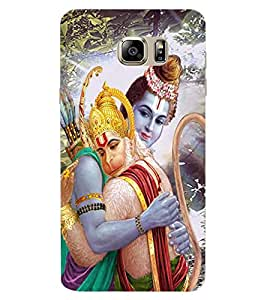 ColourCraft Lord Ram and Bhakt Hanuman Design Back Case Cover for SAMSUNG GALAXY NOTE 6